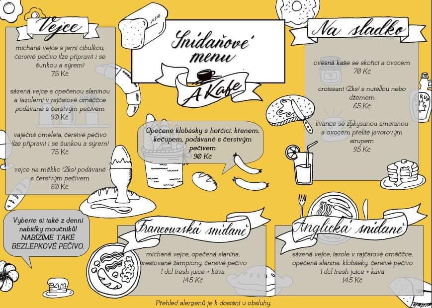 Nové sníďanové menu AKafe